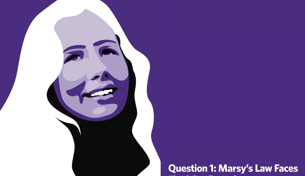 Question 1, Marsy's Law, Faces Final Confirmation